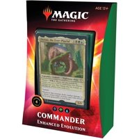 Magic The Gathering Enhanced Evolution Commander Deck | 100 Card Deck | 4 Foil Legendary Creatures