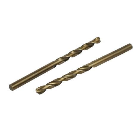 4mm Drilling Dia HSS Cobalt Metric Spiral Twist Drill Bit Rotary Tool 5pcs - image 1 of 4
