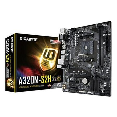GIGABYTE GA-A320M-S2H AMD A320 AM4 MAX-32GB DDR4 MICRO ATX (Best Gigabyte Motherboard For Amd Fx 8350)