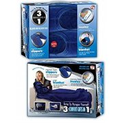 3 Comfort Gifts in 1- Small (Slippers, Blanket with sleeves, Insoles)