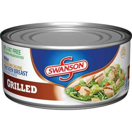 (2 Pack) Swanson Premium Chunk Chicken Breast Grilled, 9.75 oz. ()