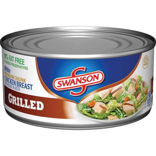 (2 Pack) Swanson Premium Chunk Chicken Breast Grilled, 9.75 oz.