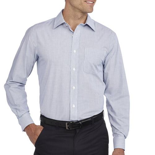 George Men's Long Sleeve Dress shirt - Walmart.com