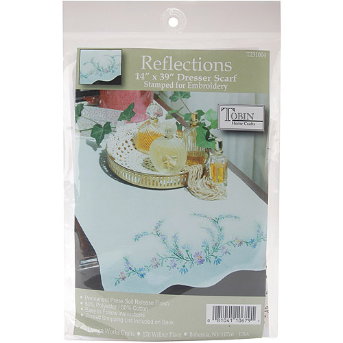 Tobin Reflections Stamped Stamped Dresser Scarf For Embroidery