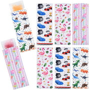 Set of 8 Popsicle Holder Bags - Neoprene Insulator Ice Pop Sleeve Set Popsicle Covers Sleeves for Popsicle Ice Pop Freezer Yogurt Ice Candy Summer Tropical Party Favors