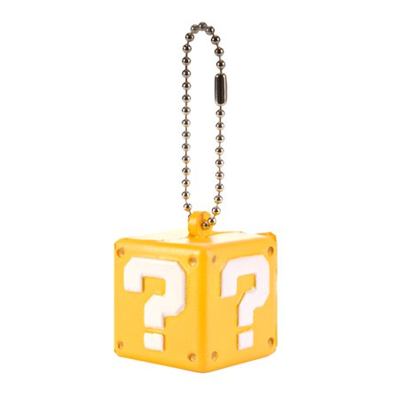 Super Mario 3D World Funyu Squeeze Keychain - Question (Designer Gold Keychain)