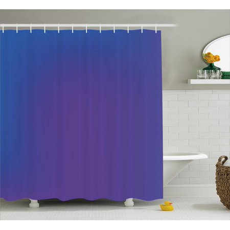 Indigo Shower Curtain, Ombre Vivid Colored Image with Purple Pink Seem Shadow Detail Art Print, Fabric Bathroom Set with Hooks, 69W X 70L Inches, Dark Blue and Purple, by Ambesonne