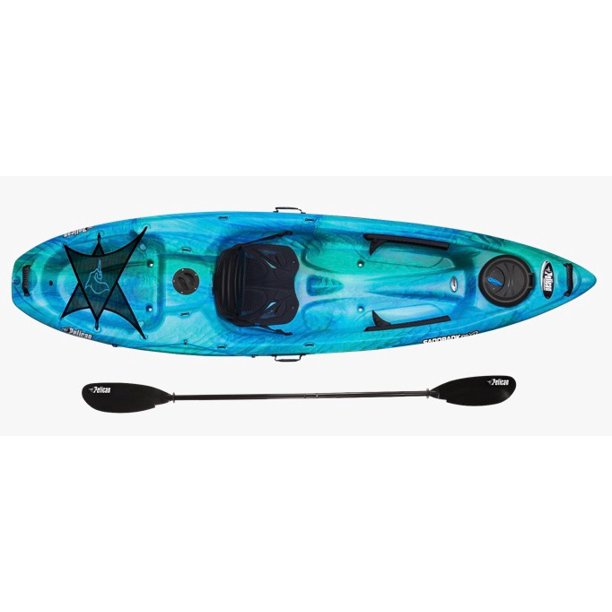 Pelican Sandbank 100xp 10 Ft Angler Kayak Paddle Included In Aquamarine Walmart Com Walmart Com