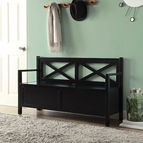 Convenience Concepts Designs4Comfort Oxford Storage Bench