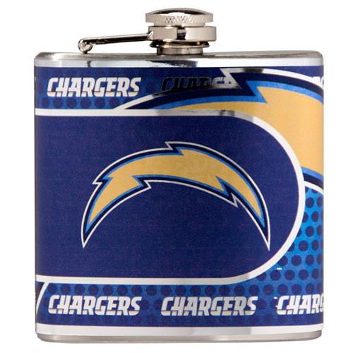 Great American Products San Diego Chargers Flask Stainless Steel 6 oz. Flask