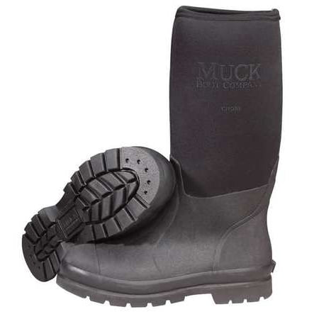 "THE ORIGINAL MUCK BOOT CO. CHS-000A/6 Boots,Sz 6,16"" H,Black,Stl,PR"