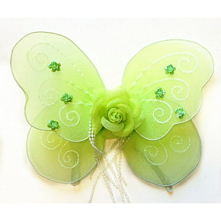 Baby Lime Rose Fairy Butterfly Wings