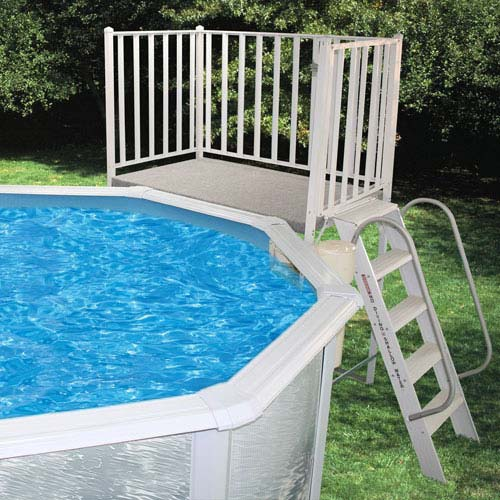 Free-Standing Pool Deck