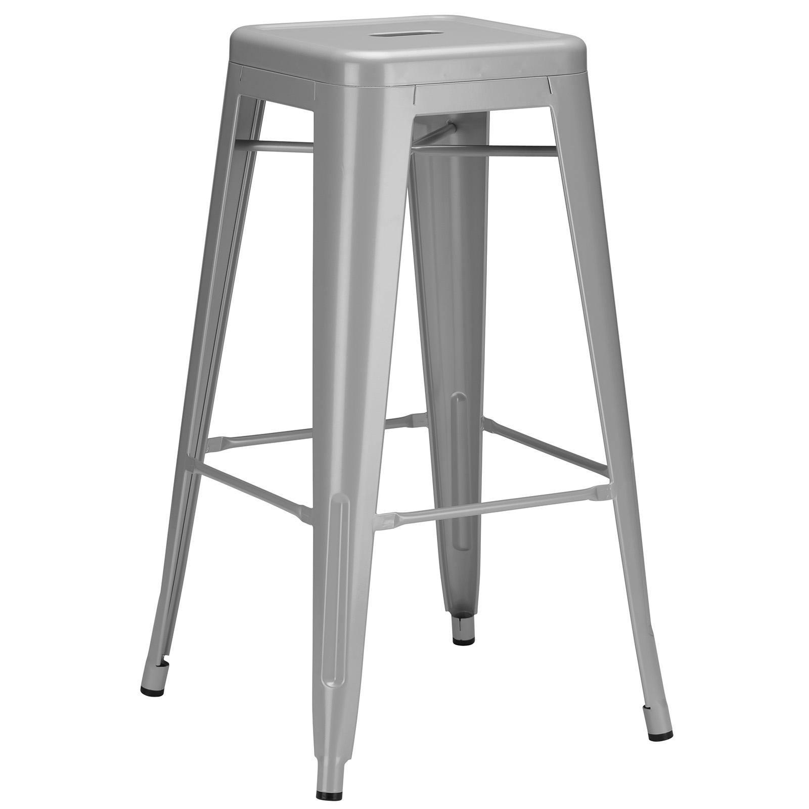 Poly and Bark Trattoria Bar Stool in Grey