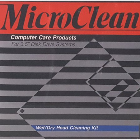 MicroClean Wet/Dry Head Cleaning Kit for 3.5  Floppy Drive Disk Systems NEW MicroClean kit for cleaning 3.5  floppy disk drives! Contains 2 disks with 10 cleanings each.