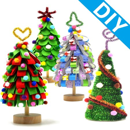 Homemade DIY Christmas Tree Detachable Ornaments Kids Decorate Gifts Toy Activity ()