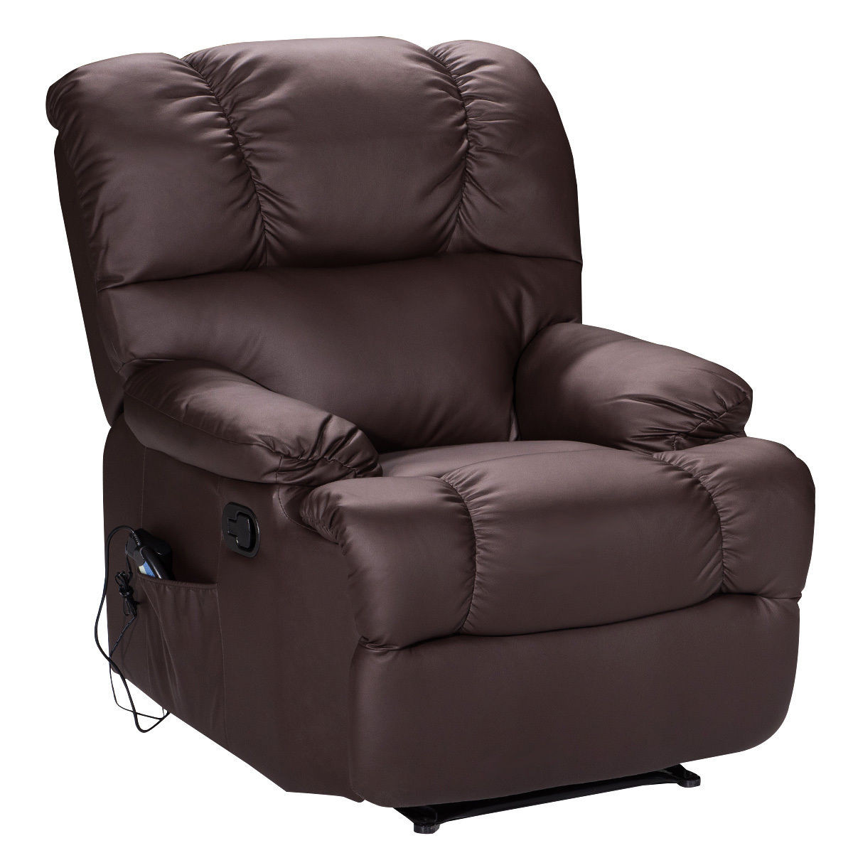 Ordinaire Goplus Recliner Massage Sofa Chair Deluxe Ergonomic Lounge Couch Heated  W/Control Brown