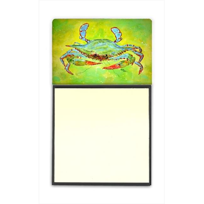 Carolines Treasures 8357SN Bright Green Blue Crab Refiillable Sticky Note Holder or Postit Note Dispenser, 3 x 3 In. - image 1 de 1