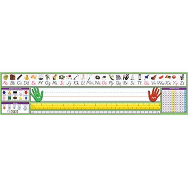 North Star Teacher Resource NST9041 Modern Manuscript Desk Plate 17-.50 X 4 36Pk