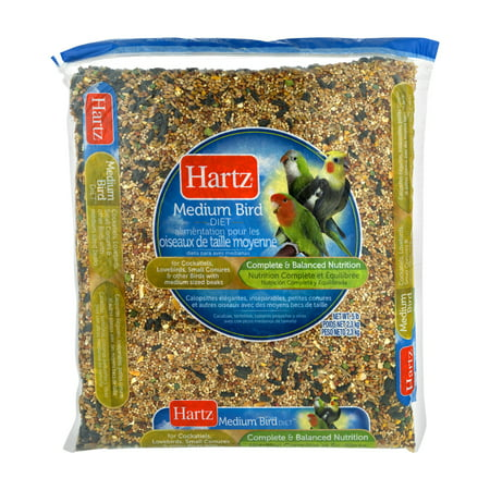 Hartz Medium Bird Food, 5.0 (Bird Food 4lb Bag)