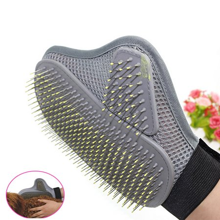 Outtop Pet Grooming Glove Hair Removal Mitts Gentle Brush Cat Dog Long short Fur Hair