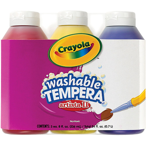 Crayola Primary Colors Washable Tempra Paint
