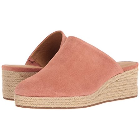 Lucky Women's Lidwina Mule Canyon Rose Coral Suede Wedge Mule