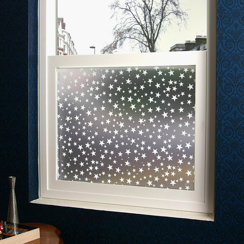 Stick Pretty Star Struck Privacy Window Film