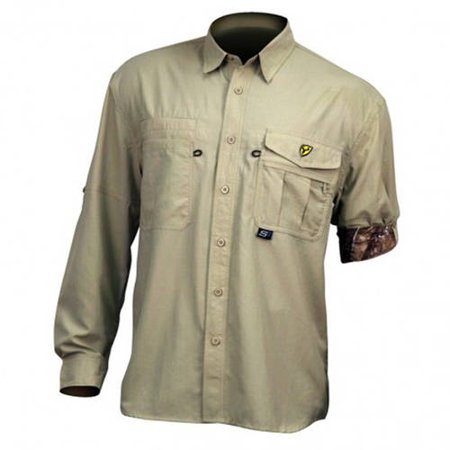 Soft Top Khaki Diamond (Men's Scent Shield Lifestyle Long Sleeve Shirt Recon, Khaki, Available in Multiple)