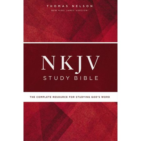 NKJV Study Bible, Hardcover, Red Letter Edition, Comfort Print : The Complete Resource for Studying God's Word (Two Letter Words)