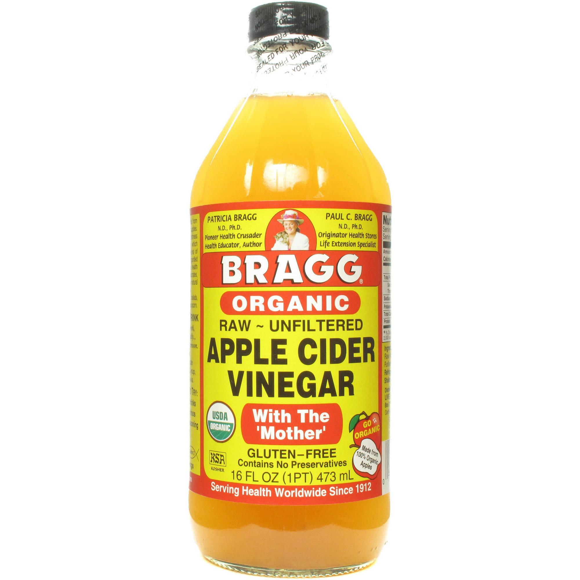 Bragg Apple Cider Vinegar, 16 FL OZ (Pack of 12) by