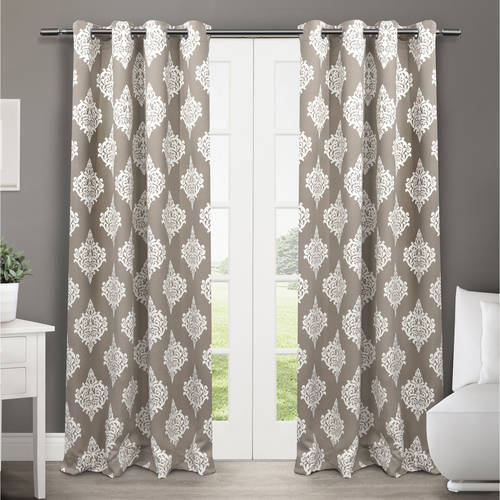 "Exclusive Home Medallion Blackout Thermal Grommet Top Window Curtain Panels, 52"" x 84\ by Exclusive Home"