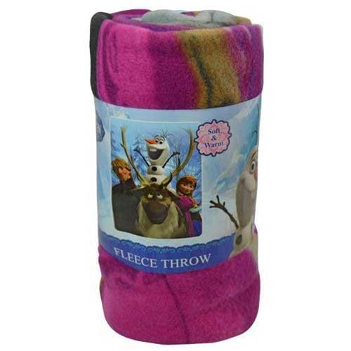 "Disney Frozen 45x60"" Soft Fleece Throw Lightweight Lap Blanket Kids Girls Boys"