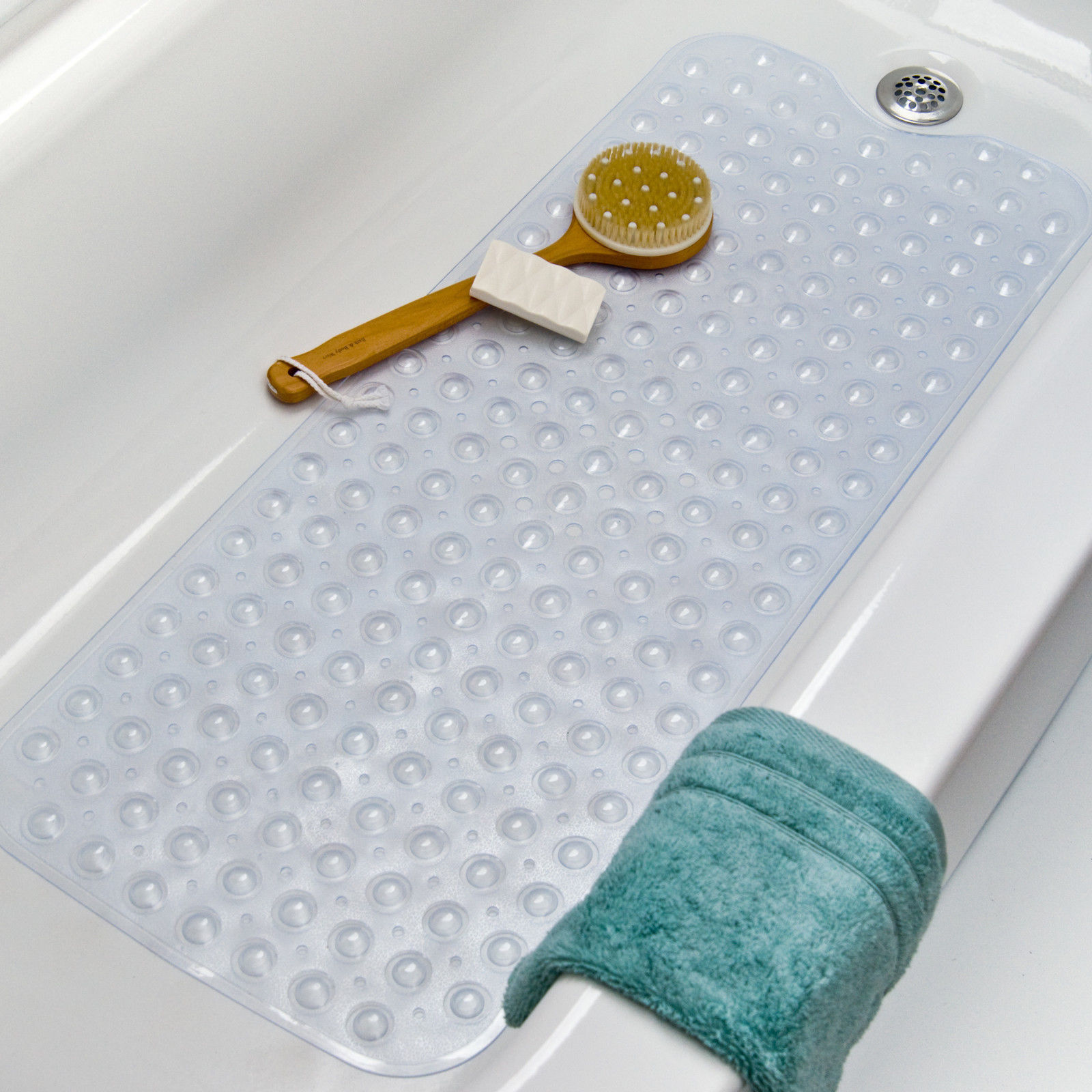 Genial Ktaxon Bath Tub Clear Bath Mat Non Slip Safety Anti Skid Shower Protection  Extra Long