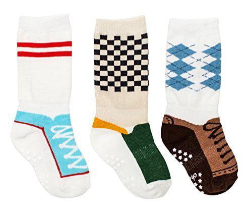Cheski Baby Boys' Knee Socks Stay Put on Baby's Kicking Legs ~ Basketball / Wingtips / Skater (9-18 Months)