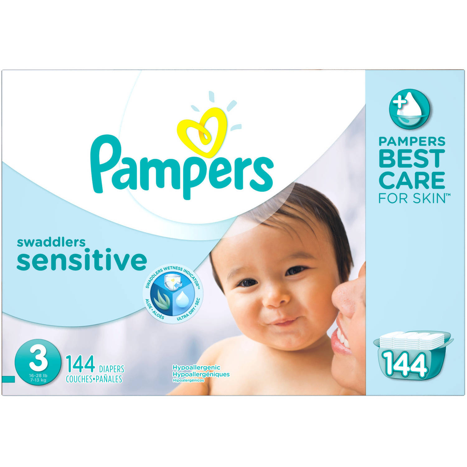Pampers Swaddlers Sensitive Diapers Economy Pack Plus, (Choose Your Size) by Pampers