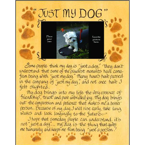 LPG Greetings Life Lines Just My Dog Photo by Lori Voskuil-Dutter Graphic Art Plaque