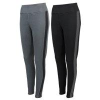 2-Pack Reebok Women's Sports Leggings (Black/Grey)
