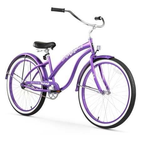 26 firmstrong bella classic single speed women 39 s beach cruiser bicycle purple. Black Bedroom Furniture Sets. Home Design Ideas