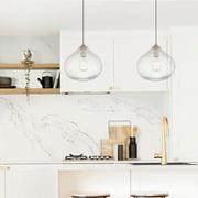 Vanity Art Modern Elegant 1 Light Glass Pendant Ceiling Light Fixture Chandelier Light For Kitchen Dining Room