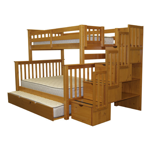 Beau Bedz King Stairway Bunk Beds Twin Over Full With 4 Drawers In The Steps And  A