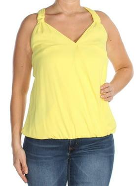 8c8b3afc04ec5 Product Image INC Womens Yellow Blouson Tank Top Size  L