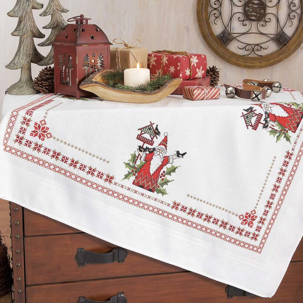 Nob Hill Christmas World Table Topper Counted Cross-Stitch Kit