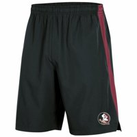 Men's Russell Athletic Black Florida State Seminoles Colorblock Training Shorts