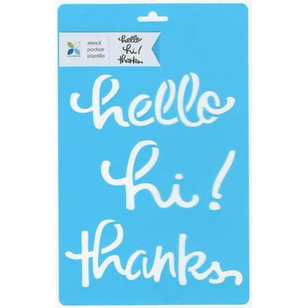 Momenta Stencil 7 X11  Hello Hi Thanks