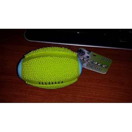 4 Inch Latex Lime Green Spiny Football Toy By Rascals, 4 inch By Coastal