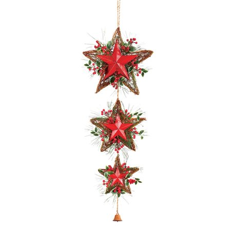 Rustic Hanging Christmas Stars Door Decoration