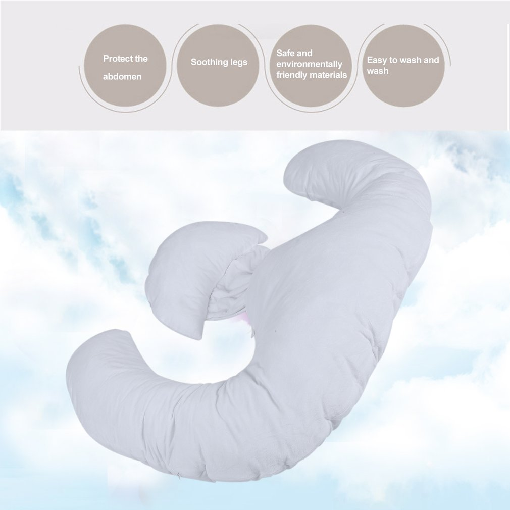 E Shaped Body Pregnancy Pillow Maternity Belt Support Full Body Pillow