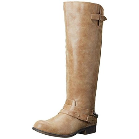 60f65c34fdf2 Madden Girl - Madden Girl Womens Canyon Faux Leather Wide Calf Riding Boots  - Walmart.com