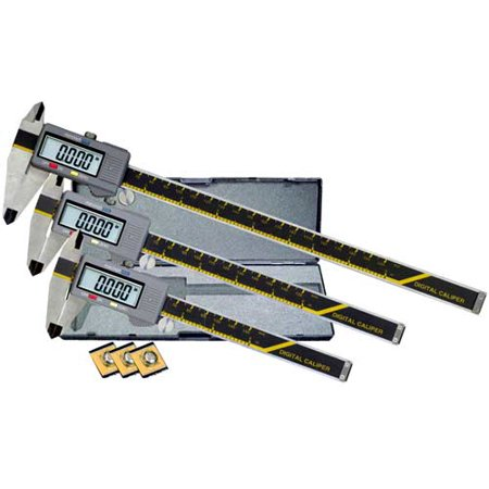"Carrera Precision 6"" 8"" 12"" Electronic Digital Caliper Micrometer Set - CP6812"